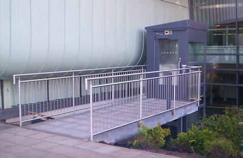 Belvidere Lifts Case Study The International Centre Telford External Eco Platform Lift