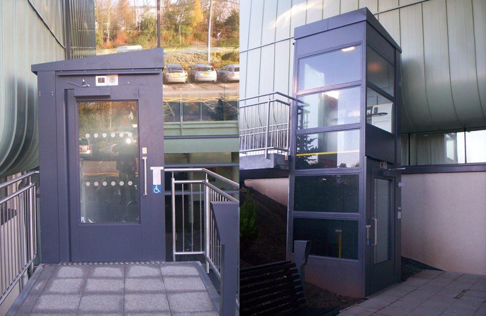 Belvidere Lifts External Eco Platform lift Telford