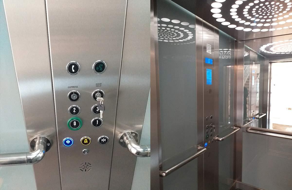 Belvidere Lifts Passenger lift Controls Albury Place Shrewsbury